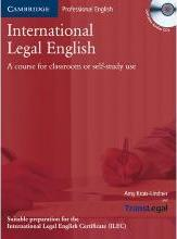 International Legal English. Student's Book with Audio-CD