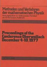 Proceedings of the Conference Oberwolfach: December 4-10, 1977