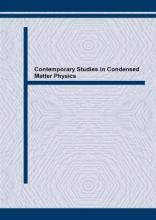 Contemporary Studies in Condensed Matter Physics: Proceedings of the Symposium on Condensed Matter Physics (SFKM '97), Kladovo, Yugoslavia, September/October 1997
