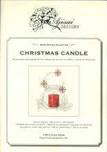Christmas Candle. Blackwork and Cross Stitch Design. Warm Winter Collection.