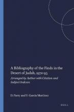 A Bibliography of the Finds in the Desert of Judah, 1970-95