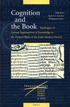 Cognition and the Book: Typologies of Formal Organisation of Knowledge in the Printed Book of the Early Modern Period
