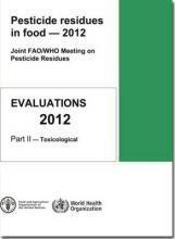 pesticide residues in food 2009 world health organization