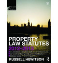 Property Law Statutes 2012-2013
