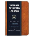 Internet Password Logbook (Cognac Leatherette)